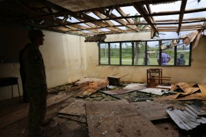 Damaged classroom. Photo: DFAT Public Affairs Suva