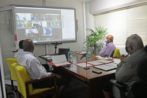 Prime Minister Josaia Voreqe Bainimarama and his delegation participating in the dialogue
