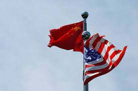 US & China Flags